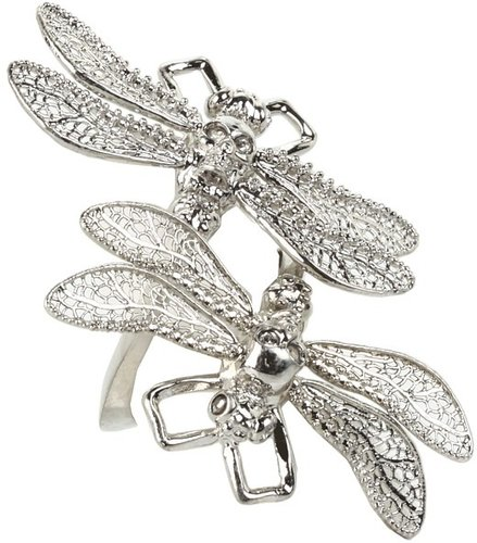 Alexander McQueen - Dragonfly Ring (Silver) - Jewelry