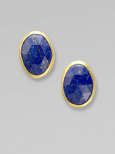 GURHAN Lapis Button Earrings