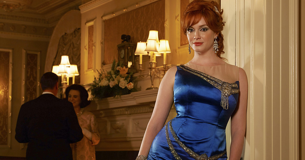 Christina Hendricks on Mad Men.