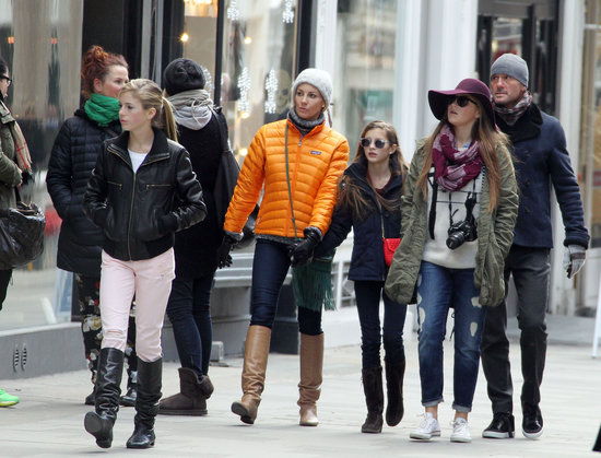 Faith Hill and Tim McGraw toured London with their three daughters, Gracie, Audrey, and Maggie.