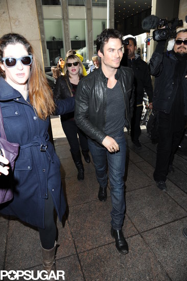Ian Somerhalder made his way through a group of fans.