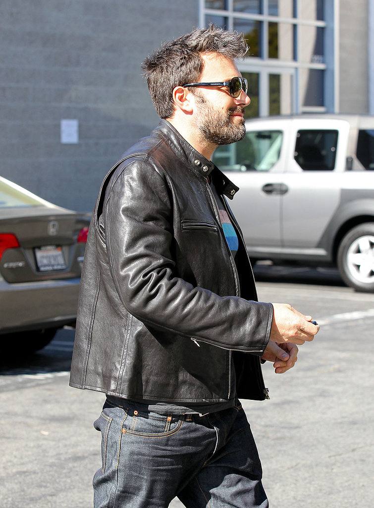 Ben Affleck smiled leaving a meeting in LA.