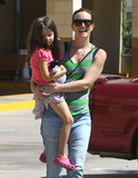 Leighton Meester carried a little girl while out in LA on Thursday.