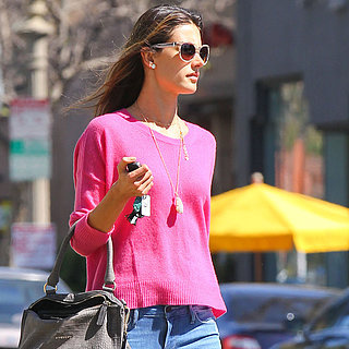 Jessica Alba in Pink Sweater | Pictures