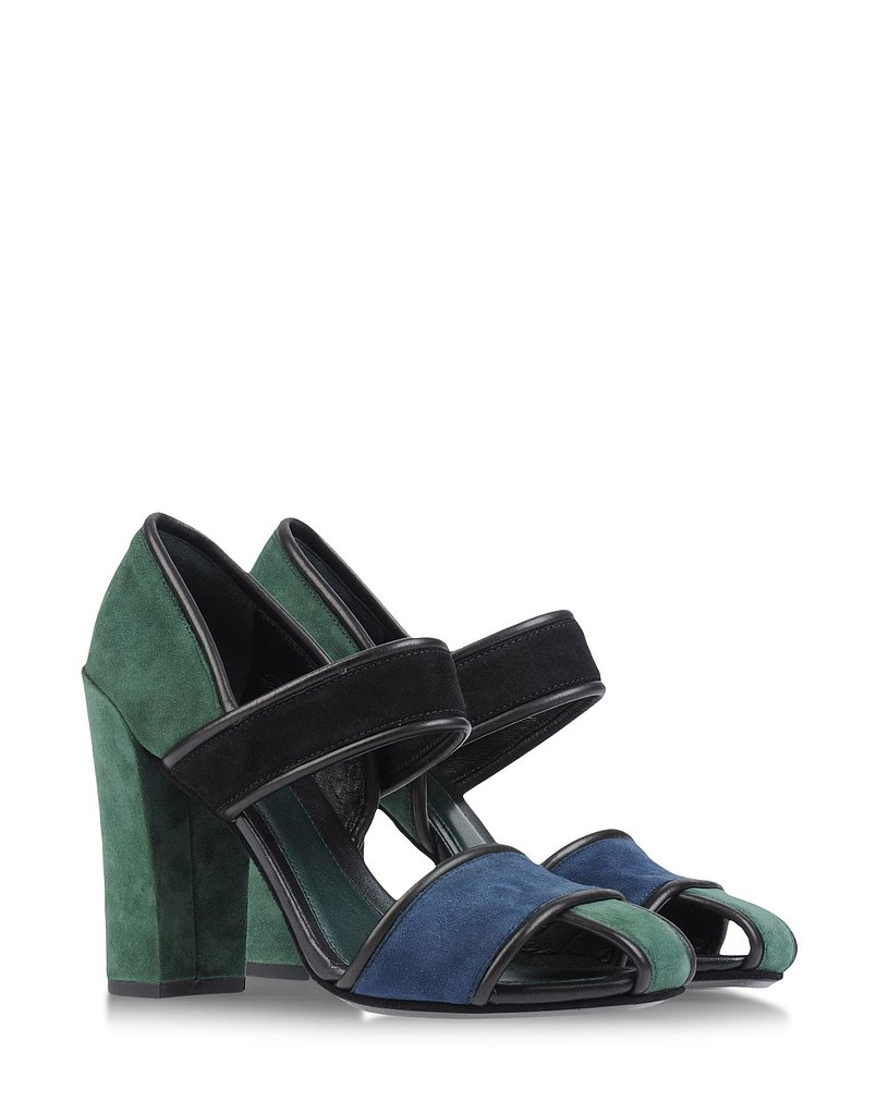 These Kenzo sandals ($148, originally $380) are a nod to Pantone's color of the year (emerald), rendered in a cool colorblocked motif.