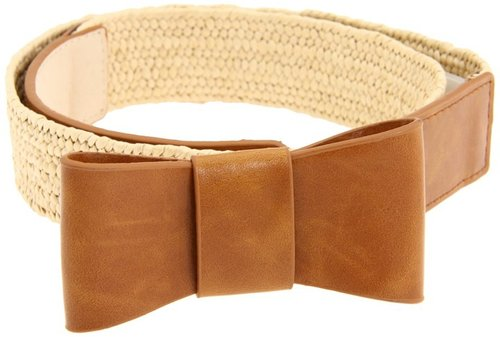 Big Buddha - Stretch Bow Belt (Cognac) - Apparel