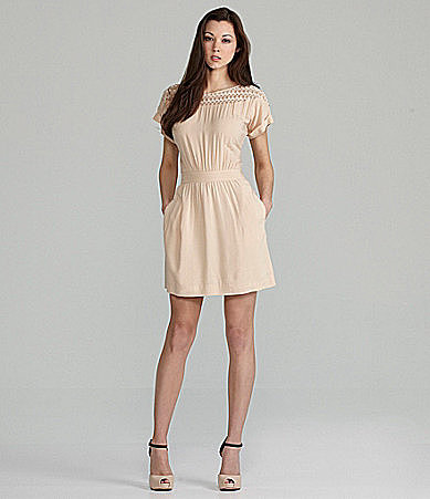 BCBGeneration Lace Panel Dress