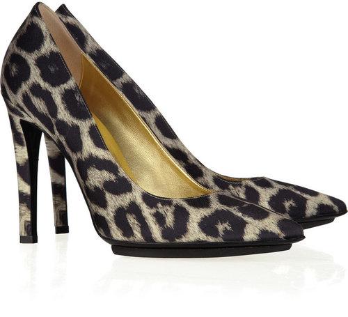 Stella McCartney Nadar leopard-print satin pumps