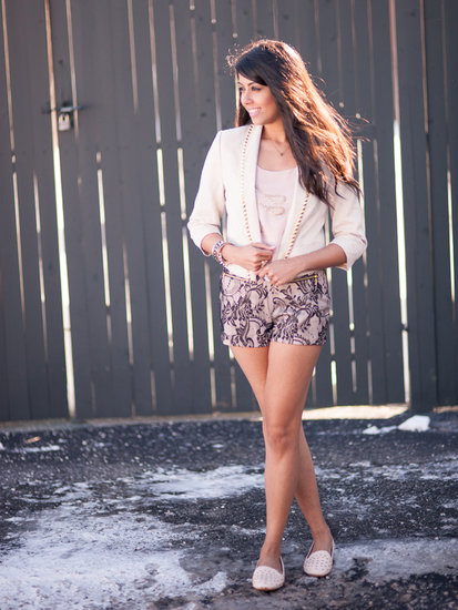 Studded Jacket &amp; Lace Shorts