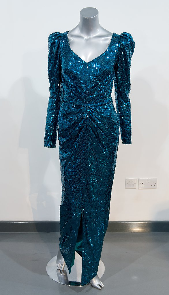 A Catherine Walker gown worn during a state visit to Australia in 1991.  Estimated price: £30,000 ($45,303) to £50,000 ($75,505)