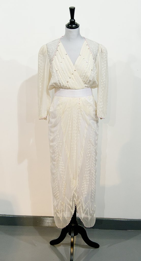 A Zandra Rhodes dress worn to the Birthright benefit concert in 1987.  Estimated price: £30,000 ($45,303) to £40,000 ($60,404)