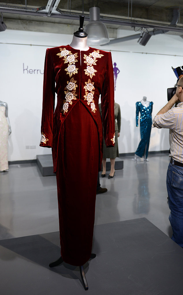 A Catherine Walker dress worn to the premiere of Steel Magnolias in 1990 and during a state visit to Korea in 1992. Estimated price: £20,000 ($30,202) to £30,000 ($45,303)