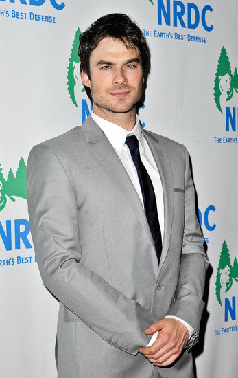 Ian Somerhalder posed for photos.