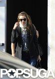 Miranda Kerr wore a neck brace in LA.