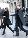 Julianne Hough and Ryan Seacrest smiled big during a November 2010 Paris vacation.