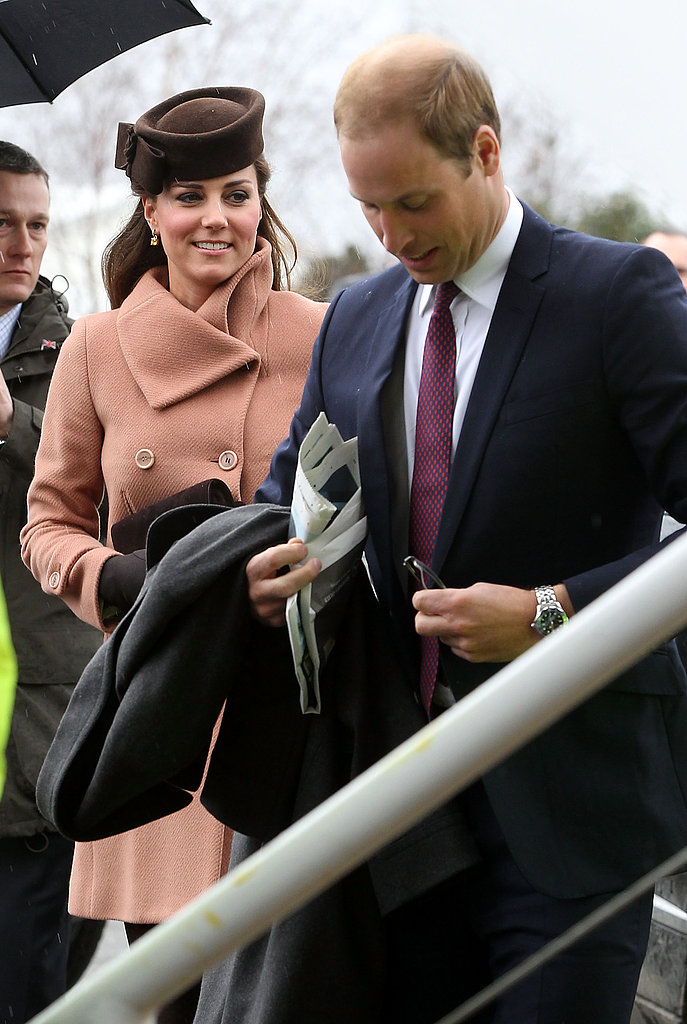 Kate Middleton and Prince William both visited the races.