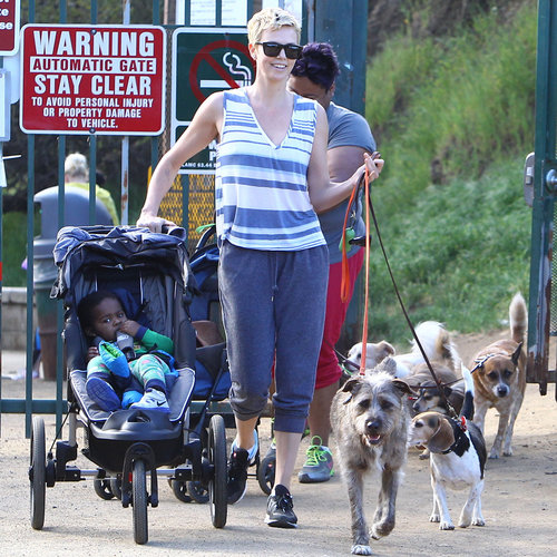 Charlize Theron Hiking Runyon Canyon in LA | Pictures