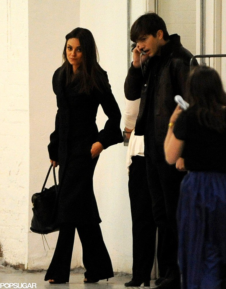 Ashton Kutcher and Mila Kunis had a date night in London.