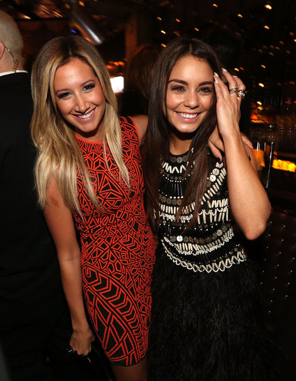 Vanessa Hudgens partied with Ashley Tisdale after the premiere.