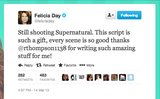 Supernatural fans are in for a treat. Geek and Sundry's Felicia Day is still on set!