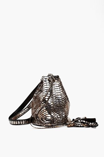 Lola Metallic Bucket Bag