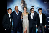 Jon M. Chu, Dwayne Johnson, Adrianne Palicki, DJ Cotrona and Lee Byung-Hun