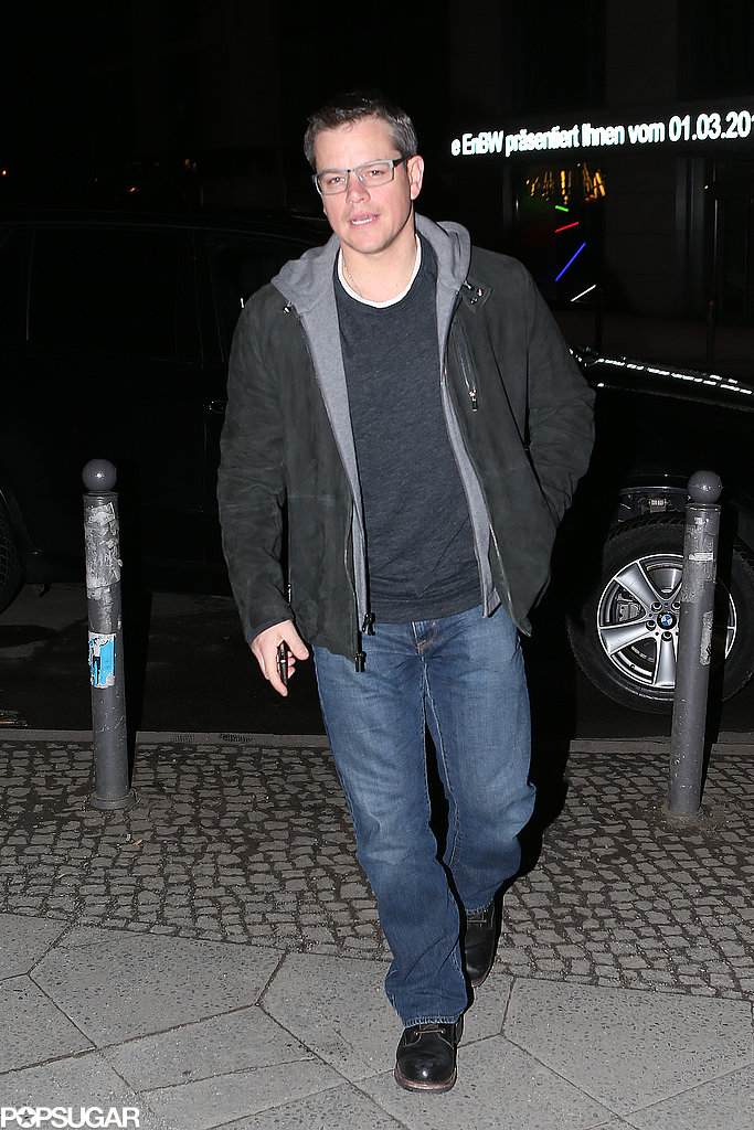Matt Damon joined George Clooney and Stacy Keibler for dinner.