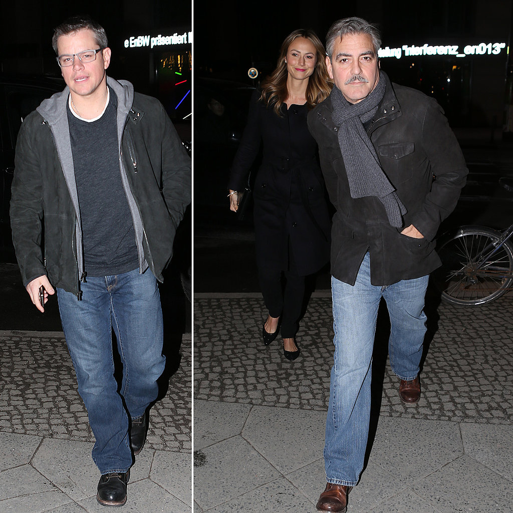 Matt Damon Joins George Clooney and Stacy Keibler's Berlin Date Night