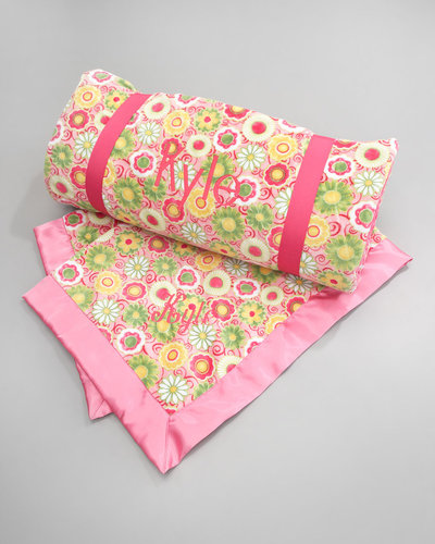 Swankie Blankie Pink Posy Nap Mat, Plain