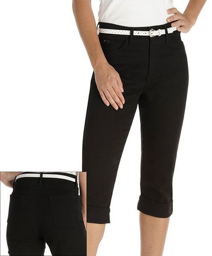 Lee marilyn classic fit slimming color denim capris