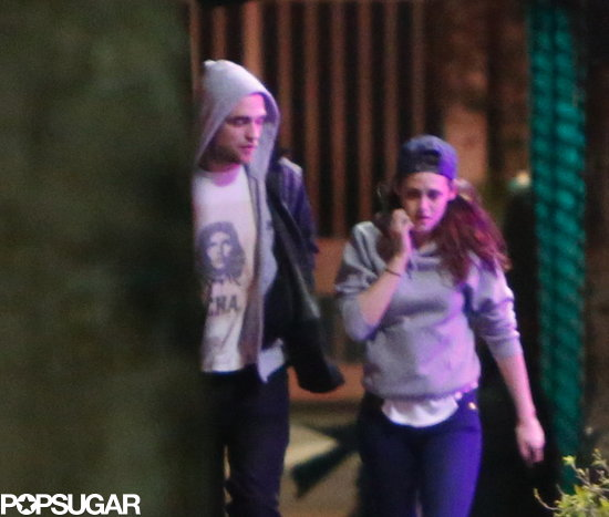 Robert and Kristen chatted as they walked.