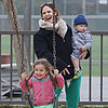 Jennifer Garner and Kids on St. Patrick's Day | Pictures