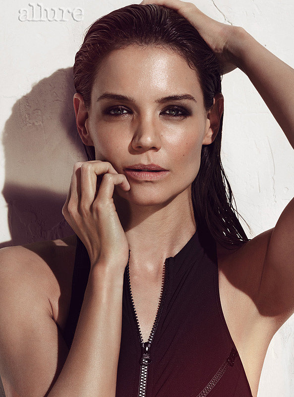 Katie Holmes posed with slicked-back hair. Source: Tom Munro/Allure