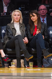Julianne Hough joined Nina Dobrev courtside at the Lakers game after Julianne's split from Ryan Seacrest was announced.