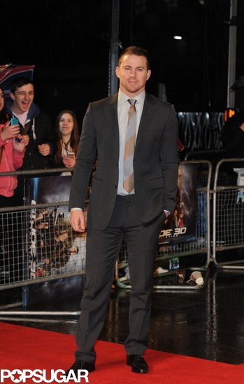 Channing Tatum hit the red carpet in London.