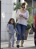 Jennifer Lopez Goes Low-Key For a Shopping Day With Max and Emme