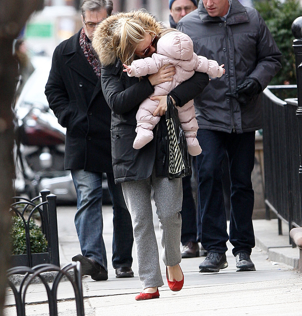 Sienna Miller planted a kiss on Marlowe in NYC.