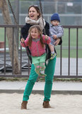 Jennifer Garner celebrated St. Patrick's Day with Seraphina and Samuel at an LA park on Sunday.