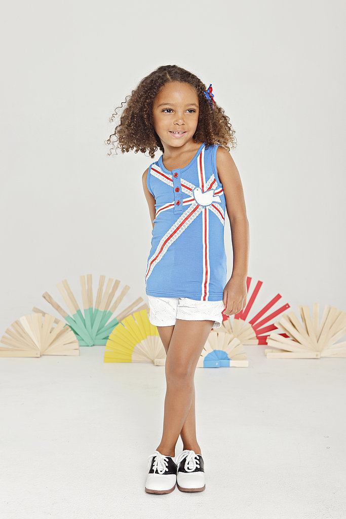 Union Bird Applique Tank ($44) and Eyelet Shorts ($46)