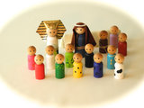 Peg People Seder Set