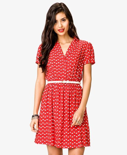 FOREVER 21 Rooster Print Dress