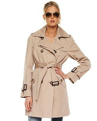 MICHAEL Michael Kors Sateen Trench Raincoat