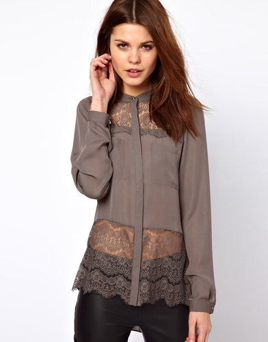 Warehouse Lace Yoke Shirt