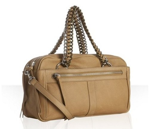 Pour la Victoire tan pebbled leather 'Hepburn' satchel