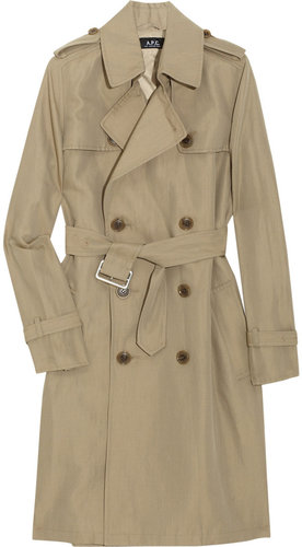 A.P.C. Double-breasted gabardine trench coat