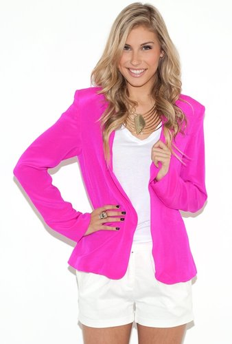 Naven Oversized Blazer in Pop Pink