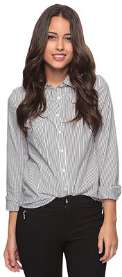 Forever 21 Striped Button Down Shirt