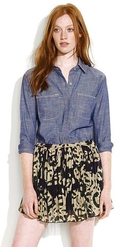 Perfect chambray shirt in prairie bloom wash