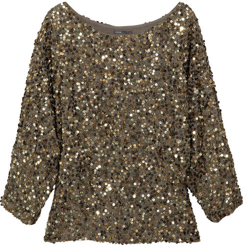 Vince Sequined georgette top