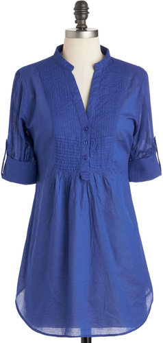 Back Road Ramble Top in Blue